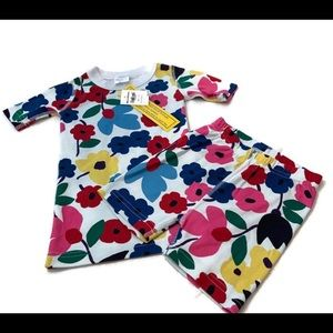 Hanna Andersson Floral  Girls Short PJ 110 5 NWT
